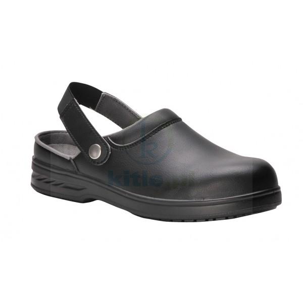 Sandał roboczy biały lub czarny Sabot